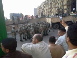 Militär auf dem Tahrirplatz hat die Besetzer vertrieben